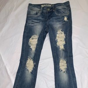 Rue 21 Flare Distressed Jeans